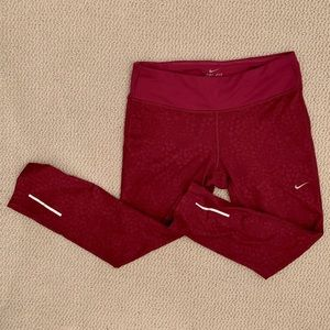 Nike Epic Run Crop Tights Fuschia